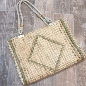 Vintage Italian Made Straw Woven Bag Tote